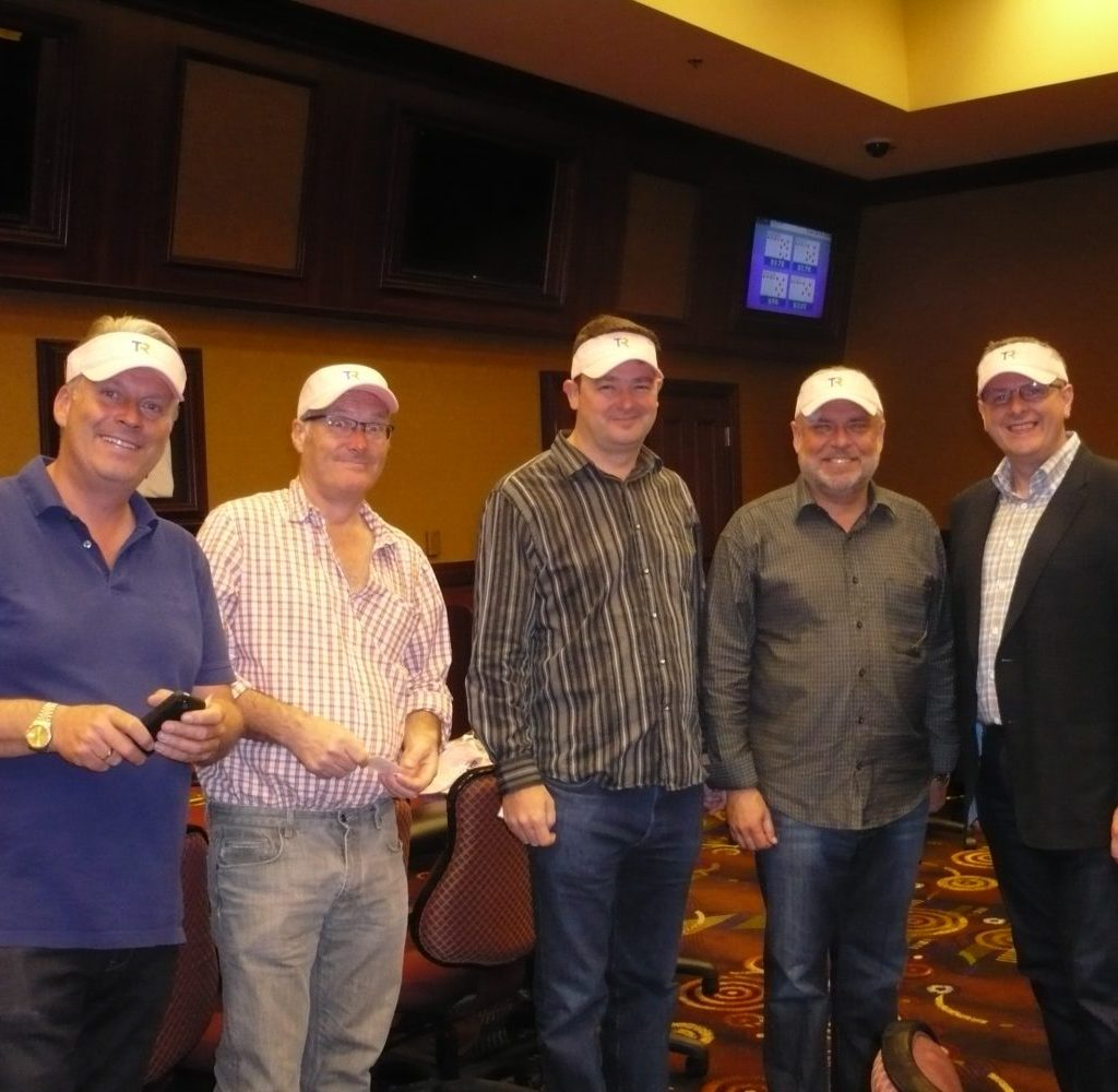 Back To The Tournament - Here Are The Key Players Eivind And Kealan From Regency, Perspective's Paul Mattimoe, Jay Bade And Mike Ashton - Generator's Craig, Linda Mayhugh And Emily Collins Made Up The Numbers